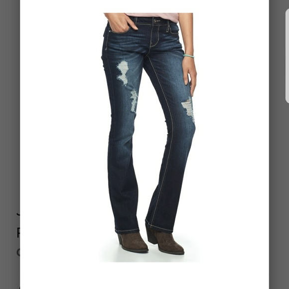 01cbc439938 Hydraulic Lola Curvy Ripped Micro bootcut jeans. NWT